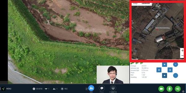 1人、MAP(赤枠衛星写真)