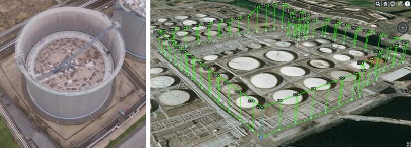石油タンク点検イメージ
