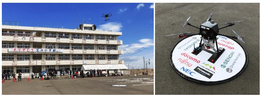 仙台市・NTTドコモなどと共同で 「ドローンを活用した津波避難広報の実証実験」実施