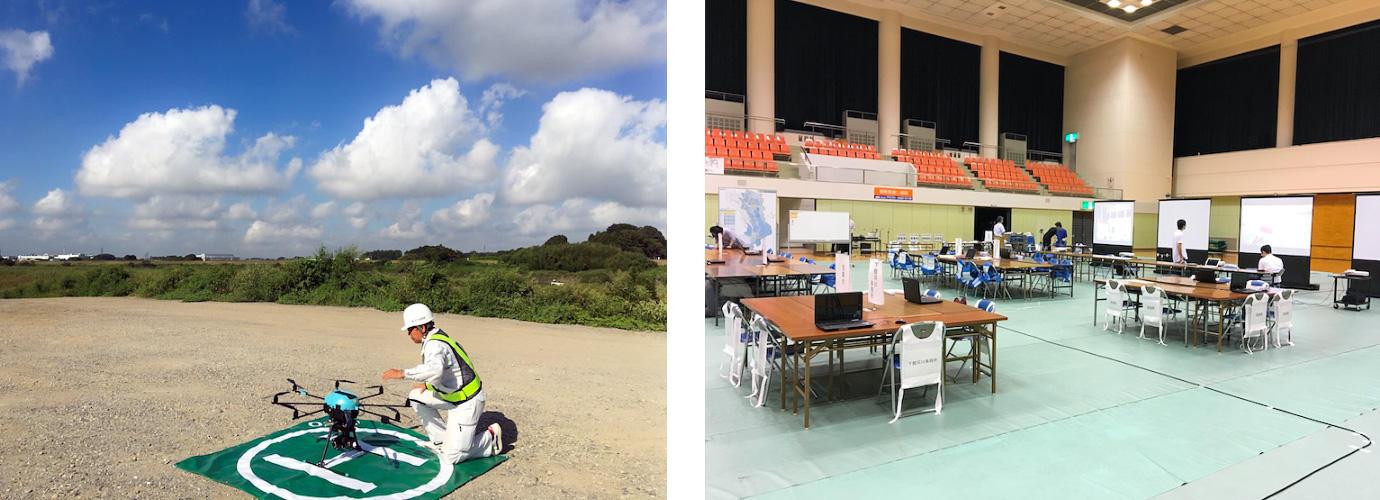 ブイキューブロボティクス、筑波大学が常総市、国土地理院と実施した水害時のドローン検証実験に参加