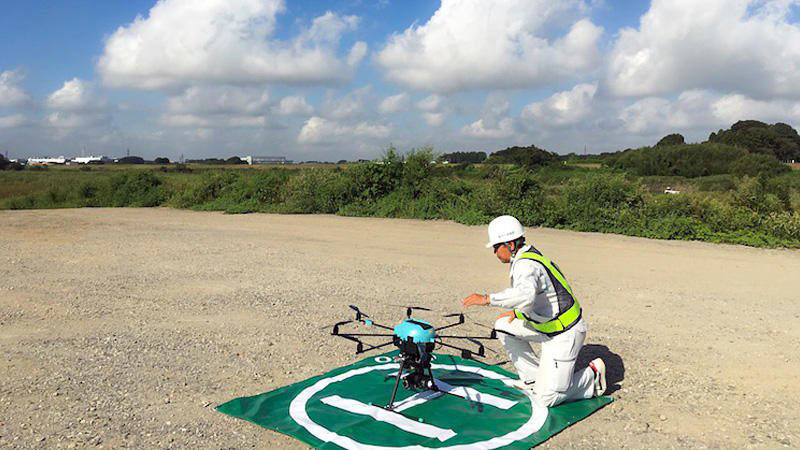 University of Tsukuba Conducted Drone Proof-of-Concept